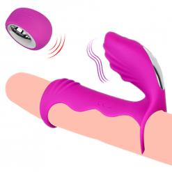 Sex Remote Male Penis Extender Enlarger Sleeve Vibrator Clitoris Stimulator Vibrating Chastity Cage Masturbator Sex Toys For Men