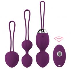 4 pcs Vaginal tighten Exercise Kegel Balls 10 Speed Vibrating eggs Silicone Ben wa ball G Spot Vibrator Erotic sex toy for Women